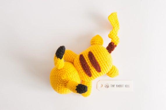 Amigurumi Patterns Pikachu : Lazy pikachu amigurumi plush doll diy crochet material kit with