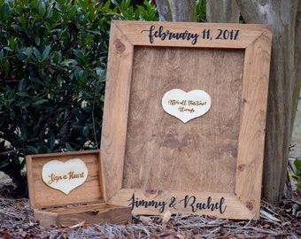 Wedding Guest Book Alternative - Heart Drop Guest Book - Guest Book Drop Box - Guest Book Sign - Guestbook Drop Box - Guest Book Ideas