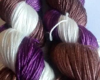 Velvet and Lace kettle dyed merino silk sock yarn