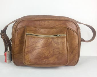 Vintage 1970s Brown American Tourister Overnight Carry On Bag