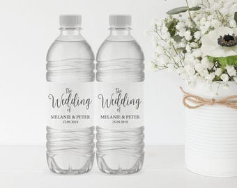 wedding water bottle label printable water bottle label water bottle label template wedding label pdf instant download mm02 1