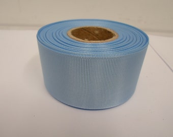 Grosgrain Ribbon 3mm 6mm 10mm 16mm 22mm 38mm 50mm Rolls, Light Baby Blue, 2, 10, 20 or 50 metres, Ribbed Double sided,