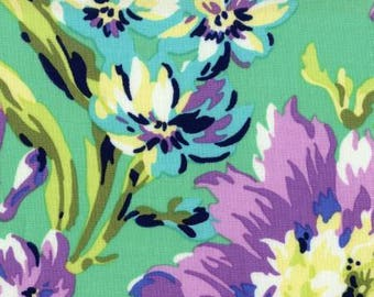 Emerald Floral Quilt Fabric By Amy Butler for Free Spirit Fabrics, Modern Floral Quilting Fabric