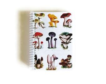 Mushrooms Notebook - A6 Spiral Bound