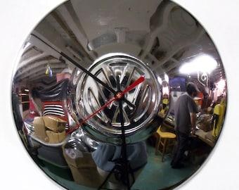 VW Beetle Wall Clock - Volkswagen Bug Hubcap Clock - Retro Car Clock - Volkswagon
