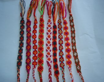 set of 9 bracelets handmade stretchy adults or children