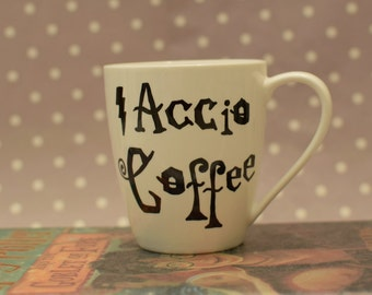Accio Coffee - Harry Potter Mug - Choice of with or without The Grim inside