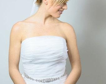 Swarovski Crystal Sash - Crystal Belt - Bridal Sash - Bridal Belt - Wedding Sash - Wedding Belt - Prom Belt - Prom Sash - ANNE