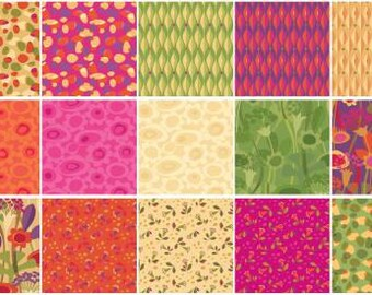 Seedheads 10 Inch Squares Layer Cake, 42 Pieces, Cary Phillips, Clothworks, Precut Fabric, Quilt Fabric, Cotton Fabric, Floral Fabric