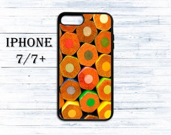 Color pencils phone cover - phone case for iPhone 4/4s/5/5s/5c/6/6s/6+/6s+/7/7+/8/8+/X - pencil ends case for iphone