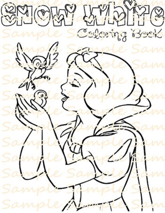 Snow White Party Favor Printable Snow White Coloring Book