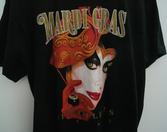 Vintage 90s Mardi Gras Graphic T Shirt XL