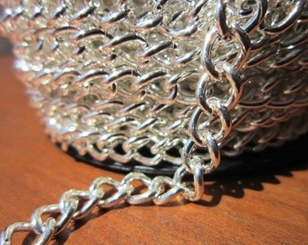 1meter / 1 yard 6mm silver color first quality chain for jewelry making, supplies crafts