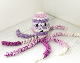 Crochet Octopus, Preemie and newborn Octopus toy, stuffed toy, Amigurumi, crochet animal, nursery gift, baby shower, fish toy, baby gift