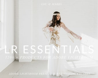 1200+ Pro Lightroom Presets and 40 Lightroom Brushes Professional Photo Editing for Portraits, Newborns, Weddings By LouMarksPhoto
