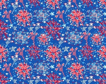 "12"" x 12"" Oracal Patterned Vinyl - Independence Day Dark Blue by Sparkle Berry"