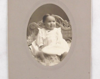 Cabinet Photograph of a Baby from The Kenyon Studio, New London, Connecticut