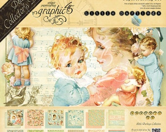 "Graphic 45 ""LITTLE DARLINGS"" Deluxe Collector's Edition DCE Scrapbooking"
