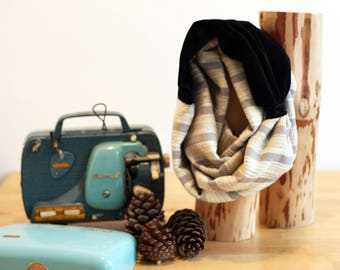 "Snood double ""Sweet January"" par Violette et Grenadine"