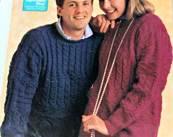 Sweater Knitting Patterns Cardigan scheepjeswol 1051 - 56 Men Women Vintage Paper Original NOT a PDF