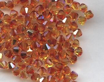 T4 5301 FIX *** 20 bicone beads crystal Swarovski 5mm FIRE OPAL ab
