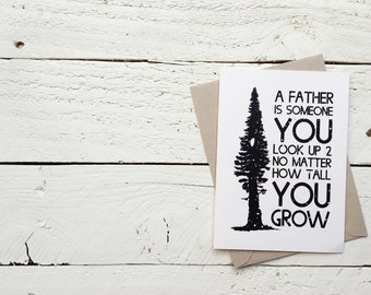 Someone You Look Up To, Father's Day - Greeting Card, 4.5x6.25 folded card with envelope
