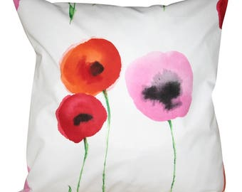 Sanderson Poppies Red Cushion Cover