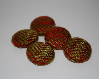Handwoven Fabric Covered Buttons-Reduced