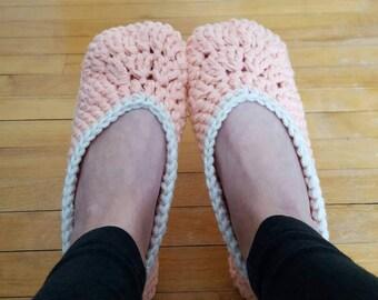 Ladies Slippers,  Crochet Slippers, Handmade Slippers, Chunky Slippers, House Slippers, House Shoes, Gift for her