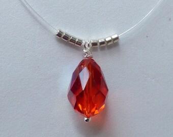 Beautiful Ruby color crystal drop