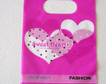 Set of 5 bags plastic 15 x 9 cm for jewelry...