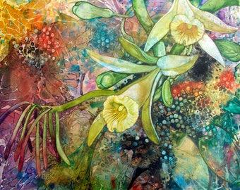 Vanilla and Allspice an original watercolor on canvas
