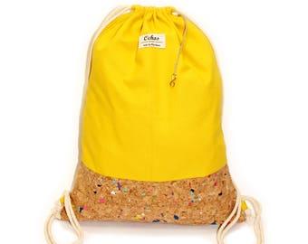 Ochos | Yellow Cork Sack Bag