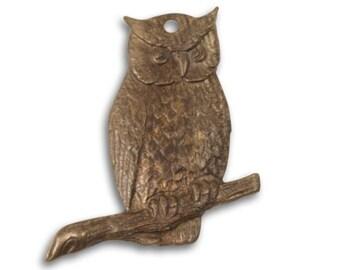 Vintaj 23x23mm Perching Owl