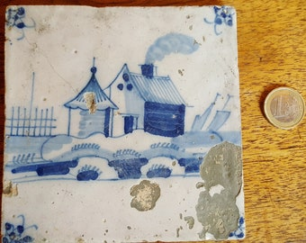 DELFT earthenware tile late 17th - early 18th century