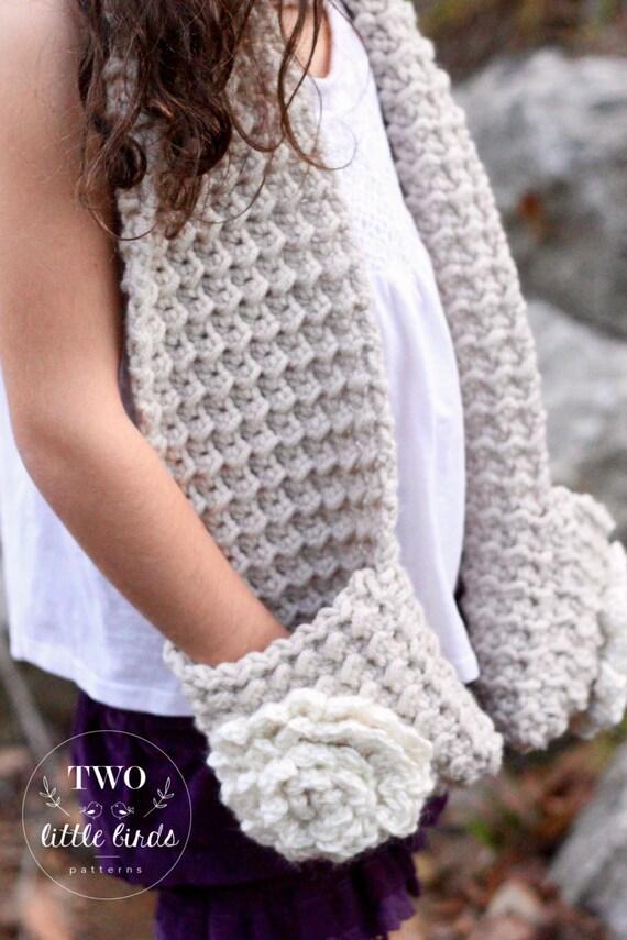 Chunky scarf pattern, Crochet Pattern, scarf pattern, long scarf ...