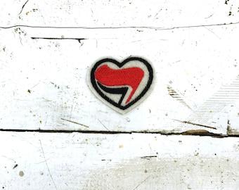 Antifa Heart Sew On Patch
