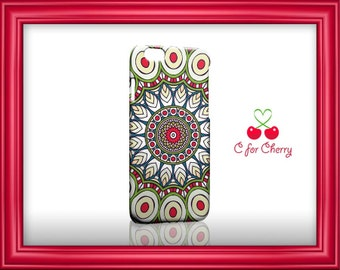 Mandala red 3D Wrapped Phonecase iPhone X 8 plus 7 plus 6s Plus 5s 5c Samsung note S7 S8 S9 plus HTC LG Sony cases