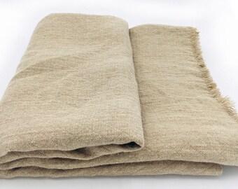 Allrounder Towel Throw beach blanket picnic blanket plaid bedspread 215 x 138 cm 100% linen Stonewashed diamond pattern trend