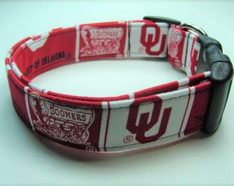The University of Oklahoma Sooners Dog Collar