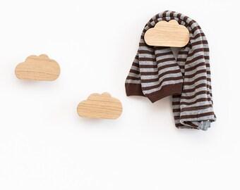 Cloud hooks - nursery wall hooks - kids coat hooks - baby nursery hook - wall hooks for kids - wall hanger - nursery hook - baby shower gift