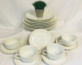 Antique Haviland France Ranson Pattern White Bone China Dinnerware Set & White bone china | Etsy