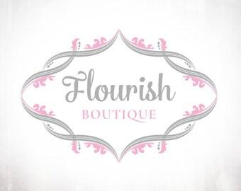 Premade Logo Design • Flourish Border