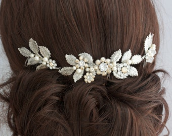 CAM Jewelry 7 Stone Statement Hair Comb in Metallic gold 3uaCEhP6y6