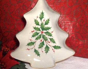 Lenox christmas tree dish