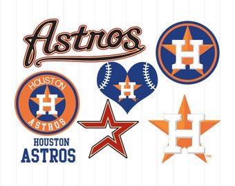 INSTANT DOWNLOAD - Houston Astros Cut Files, Houston Astros Svg, Houston Astros Clipart, Baseball Clipart, Baseball Cutting Files, Sport Svg