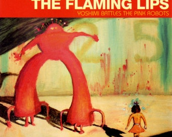 The Flaming Lips - Yoshimi Battles The Pink Robots - Poster/Print with Black Card Frame and Mount (21cm x 21cm)