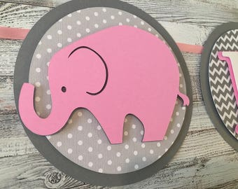 Elephant Banner - Baby Shower Banner - Little Elephant Theme - Little Peanut Theme - Elephant Theme- Elephant Baby Shower - ONE Banner