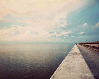 Florida photography, Seven Mile Bridge, Florida Keys, Key West, ocean photograph, landscape - Edge of the World