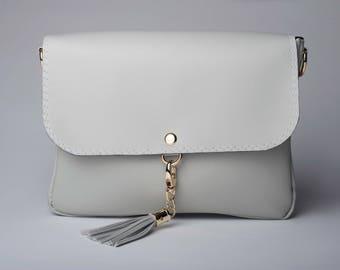 Gray Crossbody Bag/ Crossbody Purse/ Messenger Bag